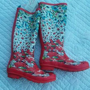 Anthropologie Rain Boots Size 8